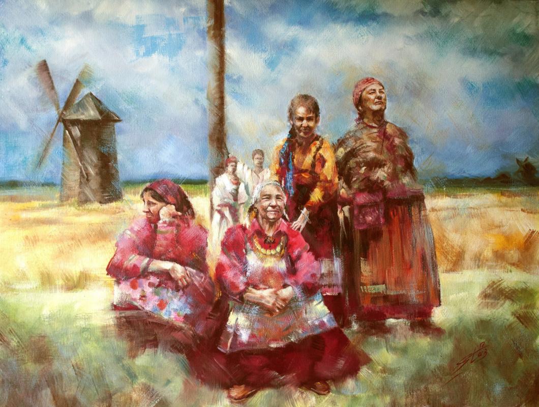 Valery Olegovich Starkov. Rural gathering