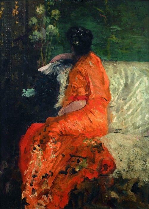 Джузеппе де Ниттис. Оранжевое кимоно