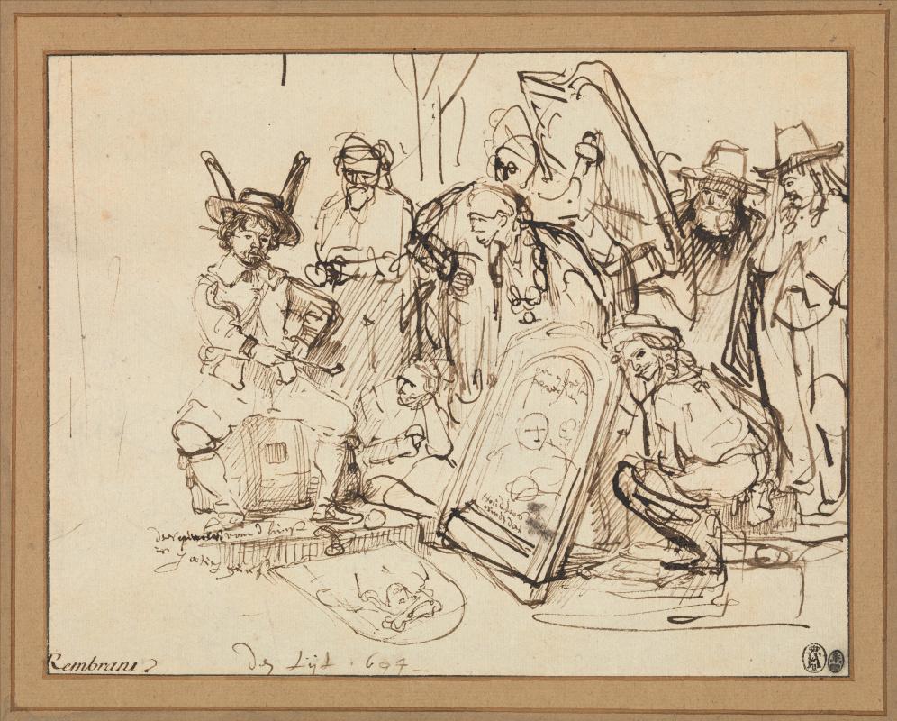 Рембрандт Харменс ван Рейн. Сатира на критику искусства