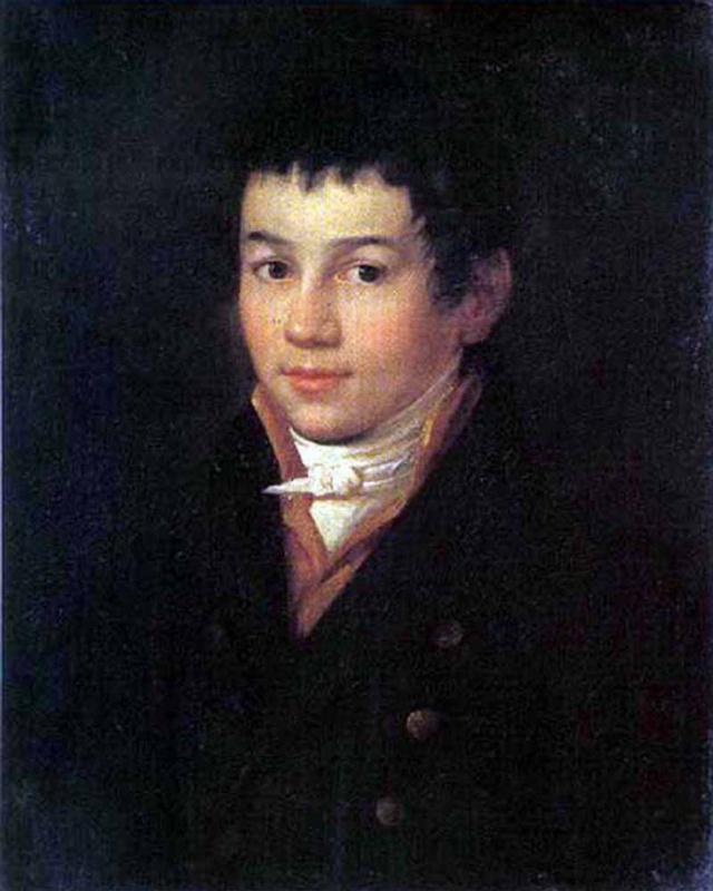 """Alexey Egorovich Egorov. """"Self-portrait"""" (in adolescence)"""