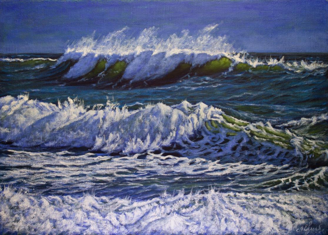 Valery Levchenko. № 614  Морской пейзаж.