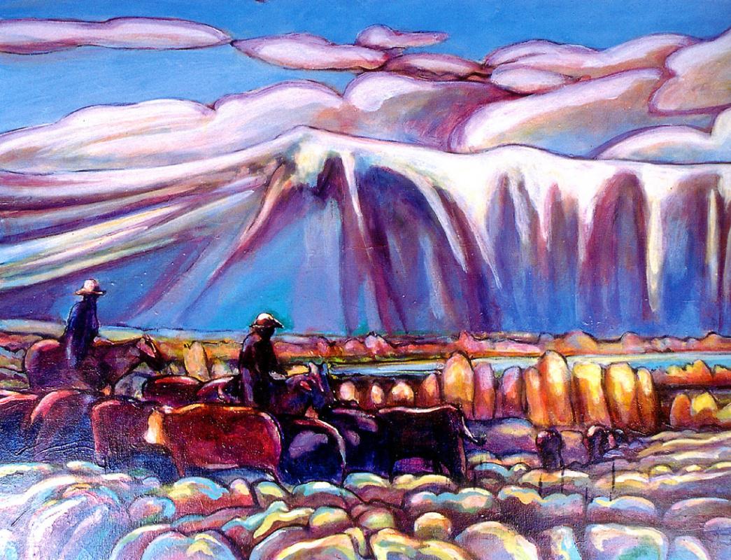 Kip Decker. Moving winter pastures