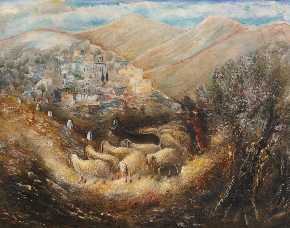 Реувен Рубин. Дорога в Галилею (Цфат)