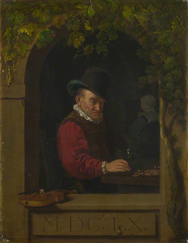 Франц ван Мирис Старший. Пожилой скрипач