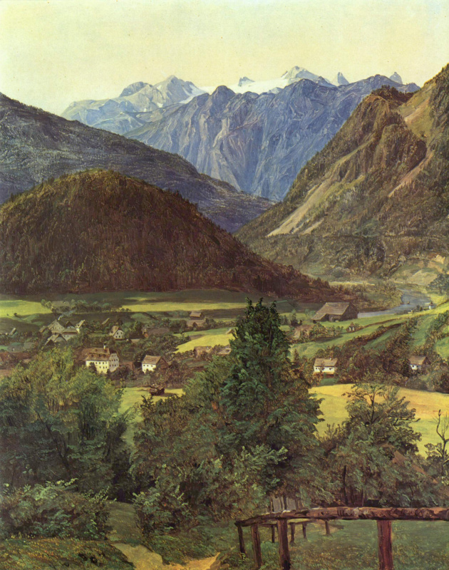 Ferdinand Georg Waldmuller. A view of the Dachstein, Sophienblatt