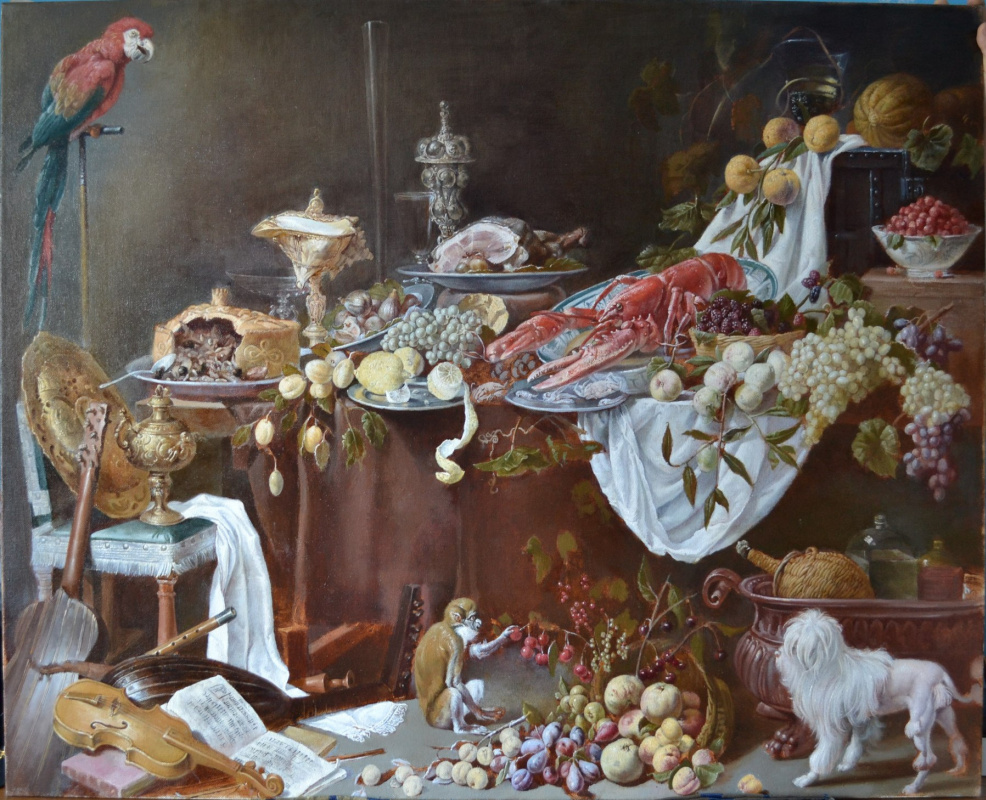 POLINA DEVIZA. Copy of still life by the Dutch master