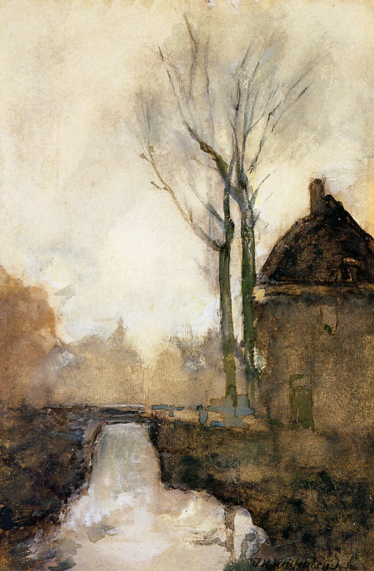 Jan Hendrik Weissenbrook. The house next to the canal