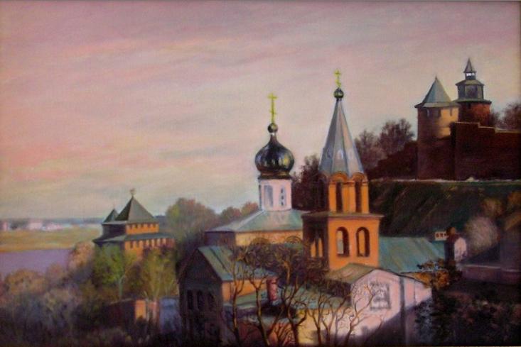 """Александр Федорович Важнев. """"CHURCH. LOWER NOVGOROD."""""""