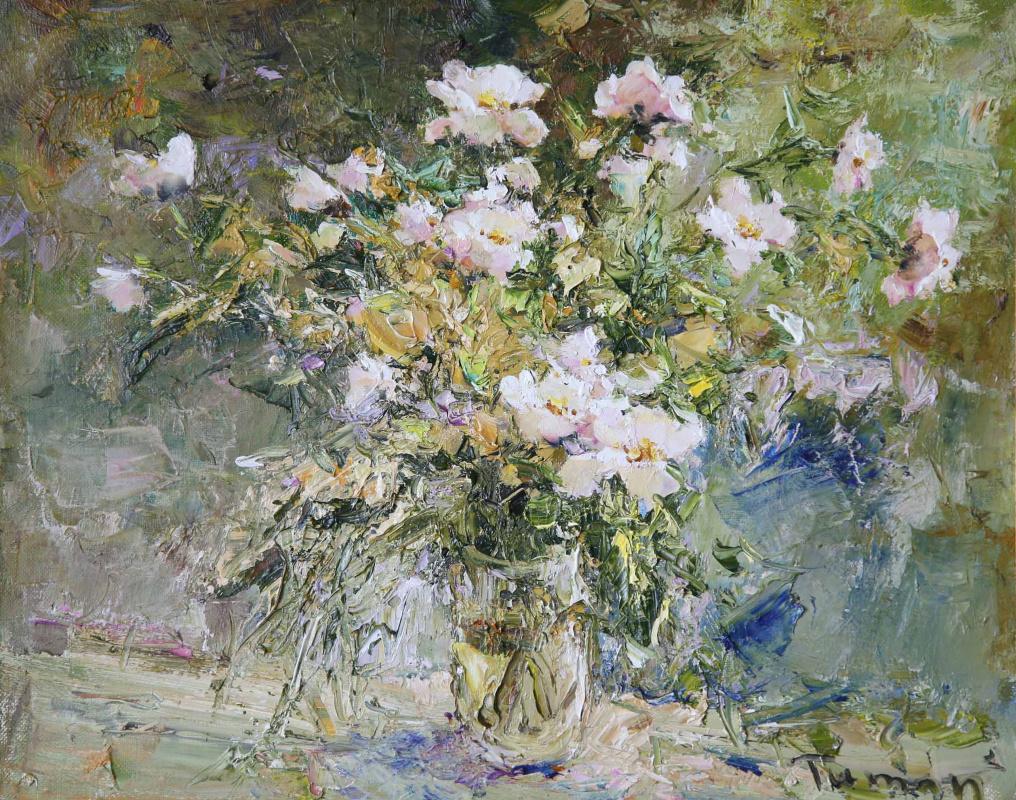 Tuman Art Gallery Tumana Zhumabayeva. White dog rose