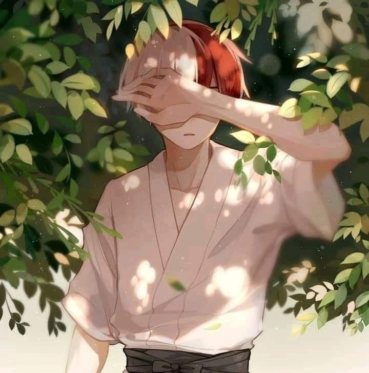 Hải Duy. Cool boy with red and white hair