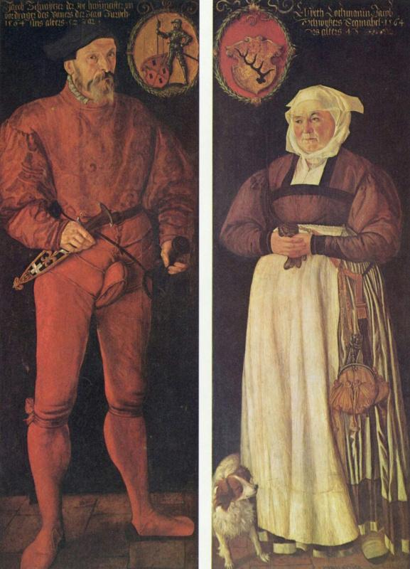 Тобиас Штиммер. Портрет Якоба Швицера с супругой Элизабет Лохманн