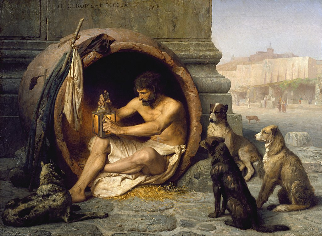 Jean-Leon Jerome. Diogenes