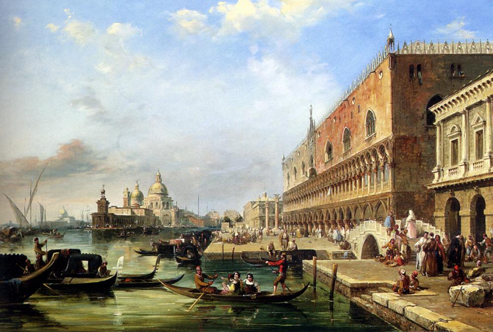 Эдвард Причетт. Санта-Мария делла Салюте от Дворца Дожей в Венеции