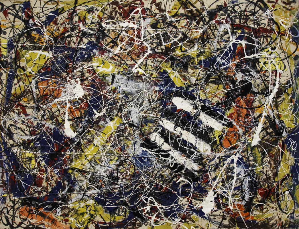 the history of art and the works of drip painter pollock
