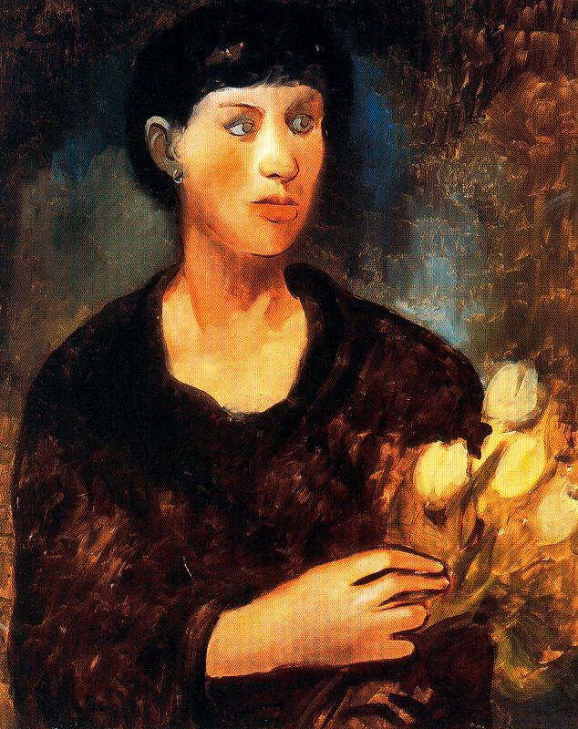 Пер Пруна. Женщина с тюльпанами