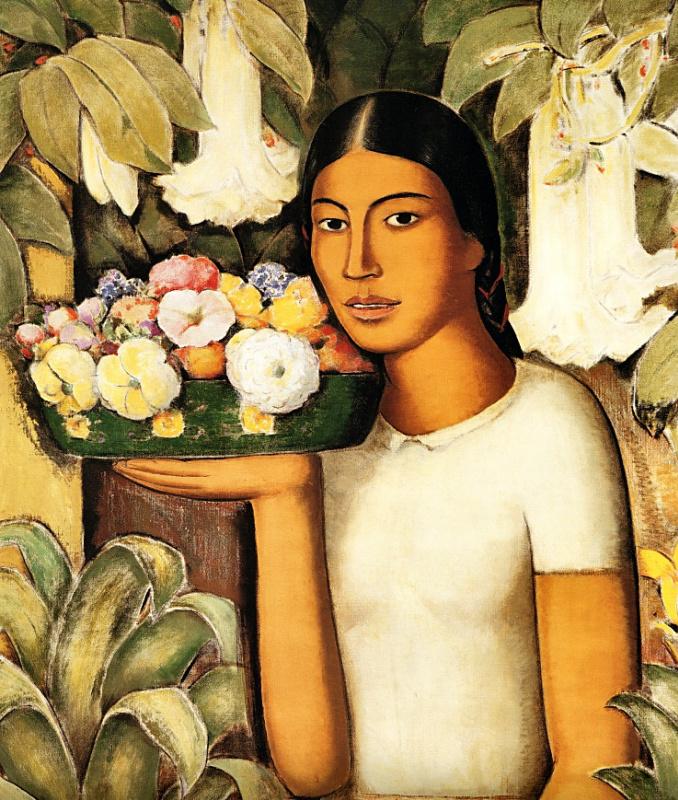 Альфредо Рамос Мартинес. Женщина с цветами