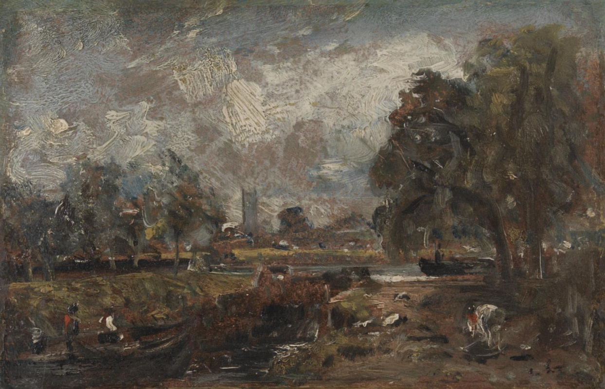 John Constable. Castle in the valley of Dedham