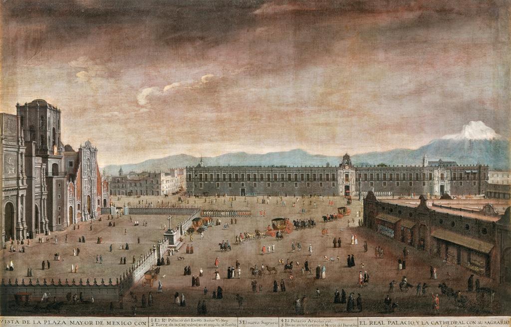 Хуан Патрисио Морлете Руис. Вид на главную площадь Мехико