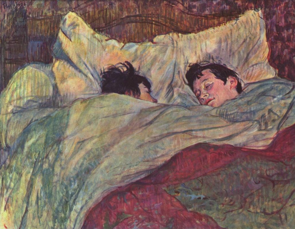 Анри де Тулуз-Лотрек. Две девушки в кровати