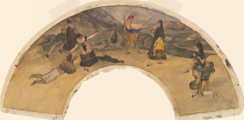 Edgar Degas. Spanish dancers and musicians