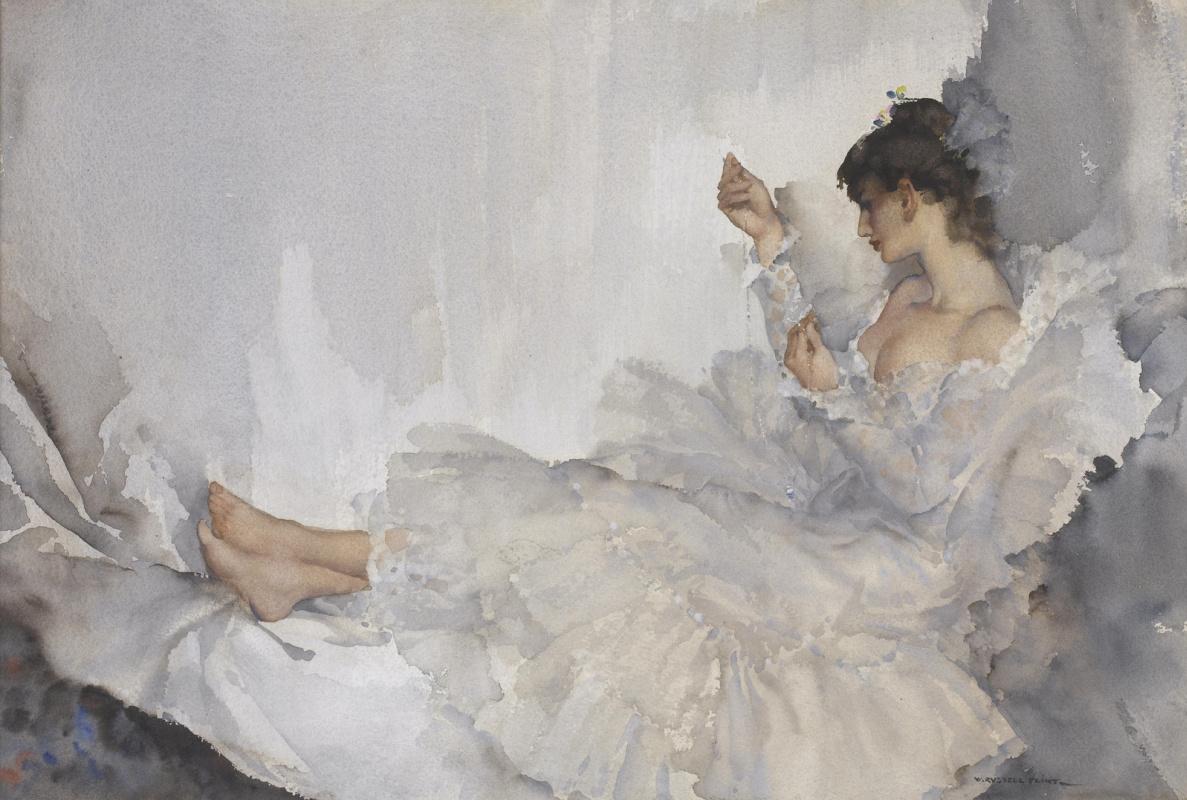 William Russell Flint 1880 - 1969 Scotland. Twisted chain, Cecilia.