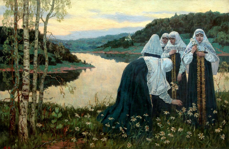 Михаил Васильевич Нестеров. Девушки на берегу