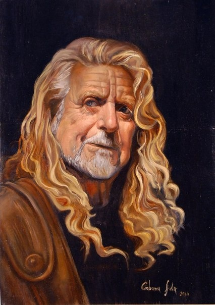 "Alexander Giza-Ciobanu. The Portrait Of ""Robert Plant"""