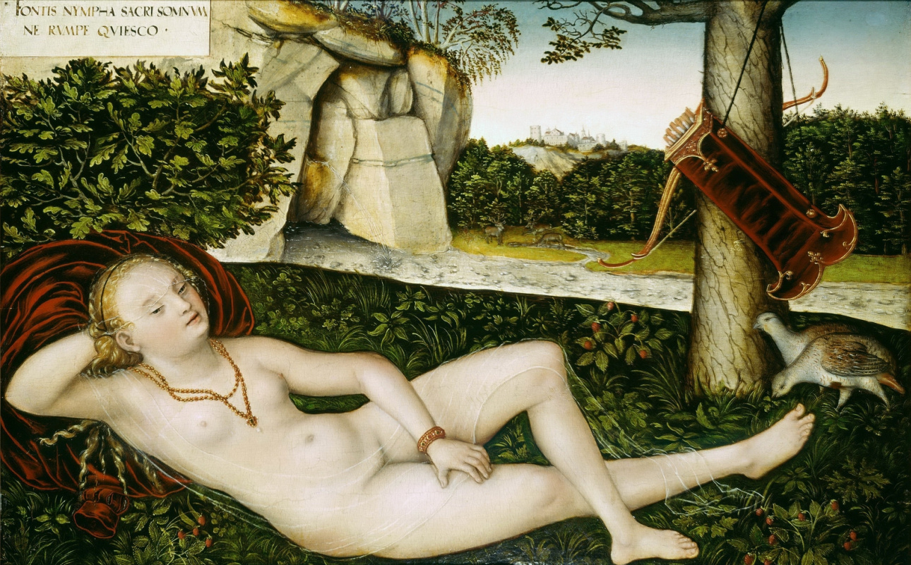 Лукас Кранах Младший. Нимфа источника. после 1540-е