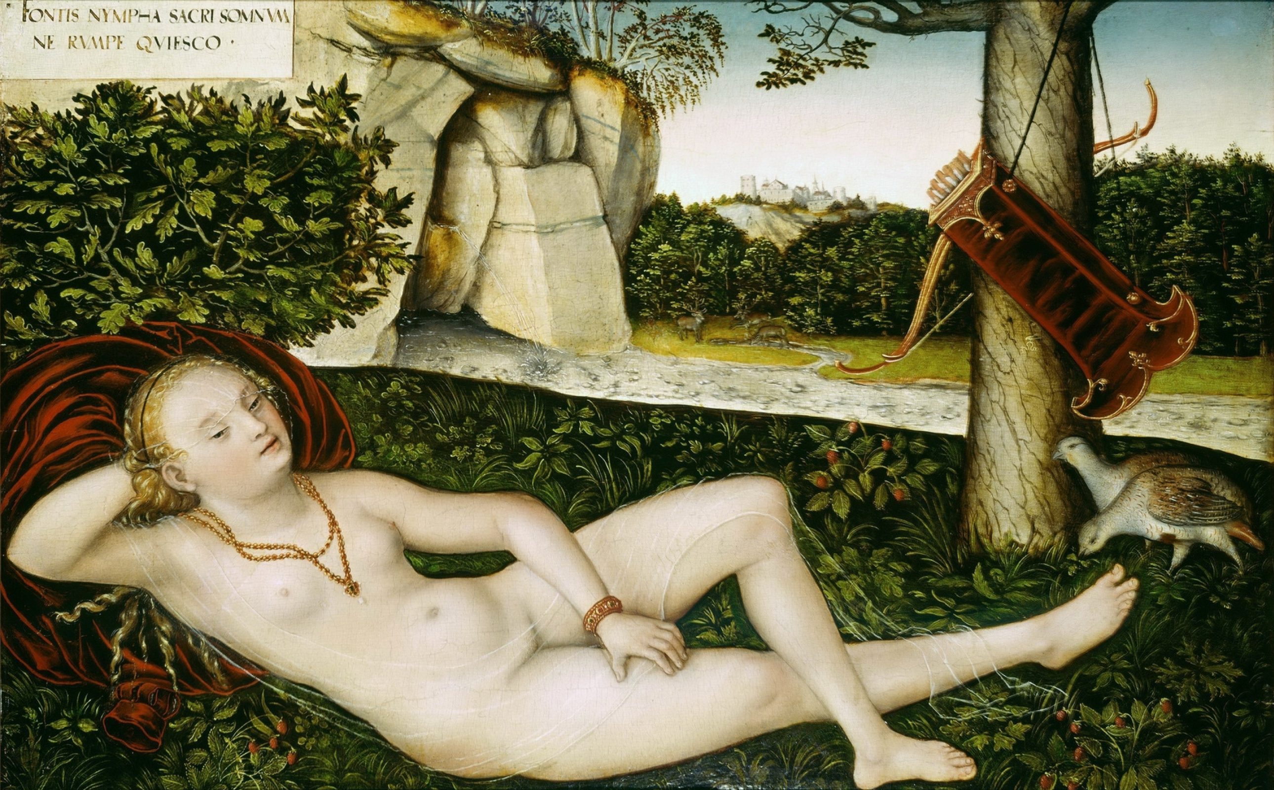 Lucas the Younger Cranach. Nymph of the source. after 1540-e