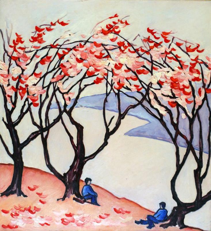 Xenia Shilnikova. Under a blossoming plum