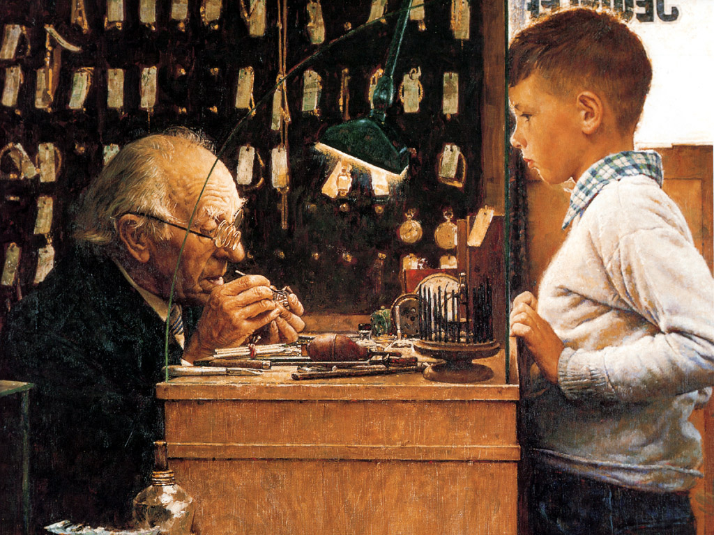 Norman Rockwell. A watchmaker from Switzerland