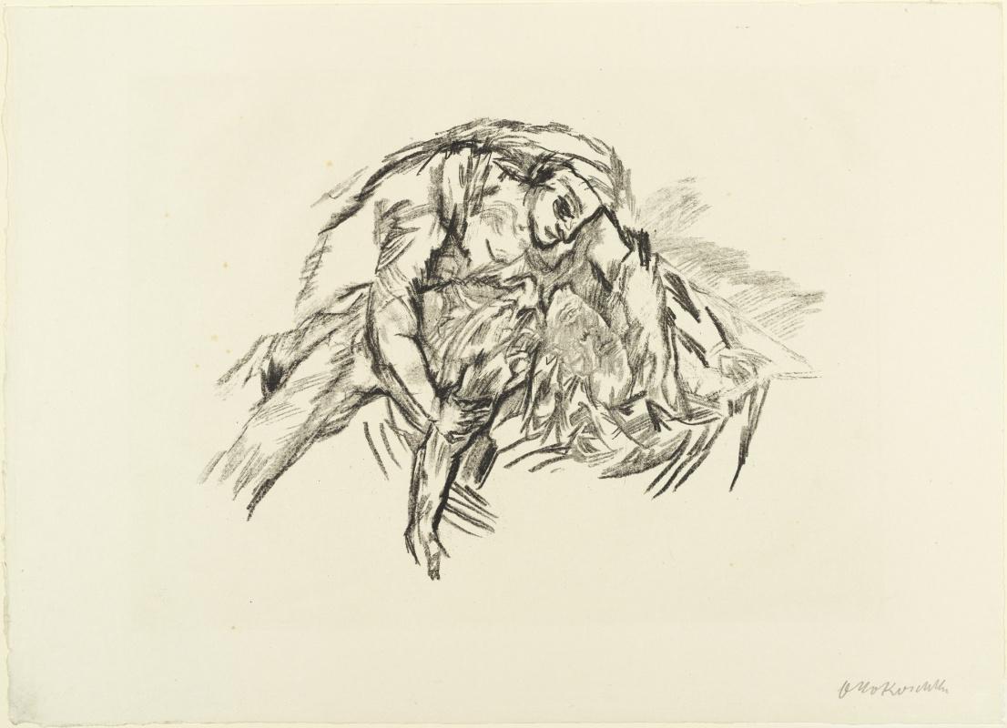 Oskar Kokoschka. Woman hugging a Ghost