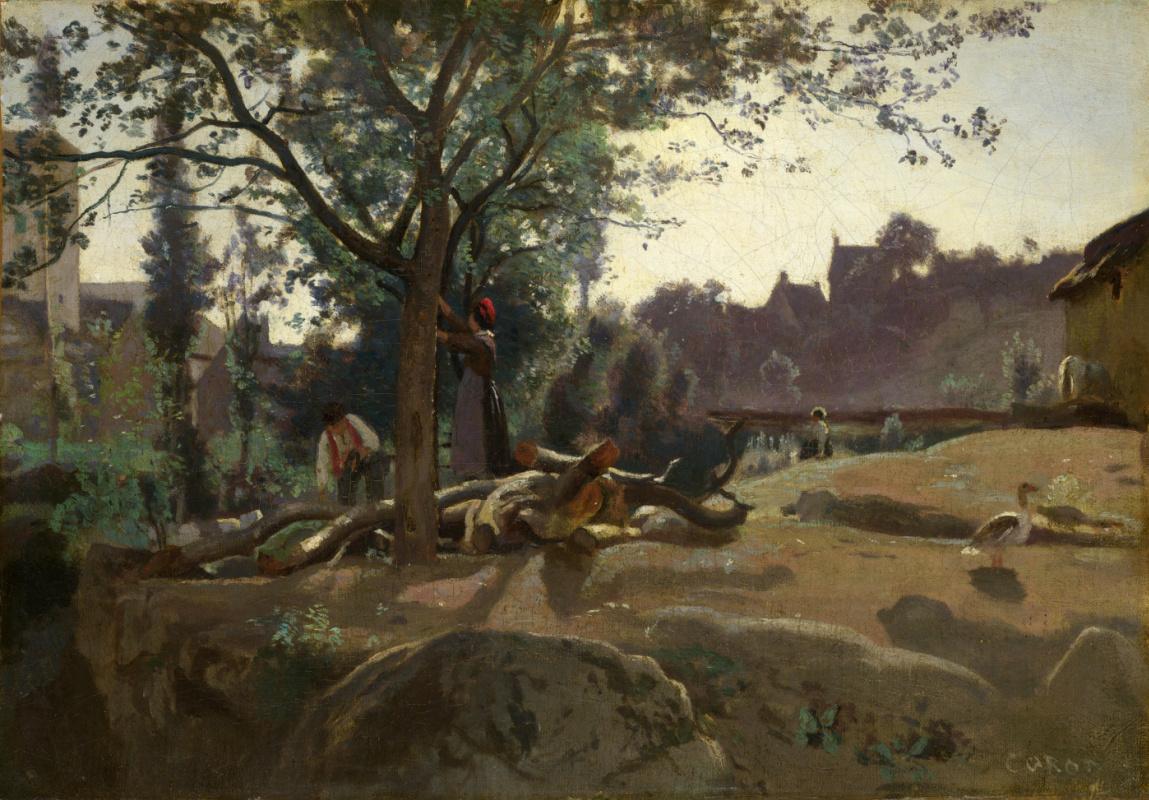 Камиль Коро. Крестьяне под деревьями на рассвете