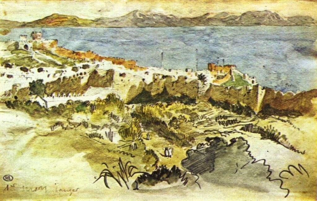 Eugene Delacroix. Bay of Tangier in Morocco