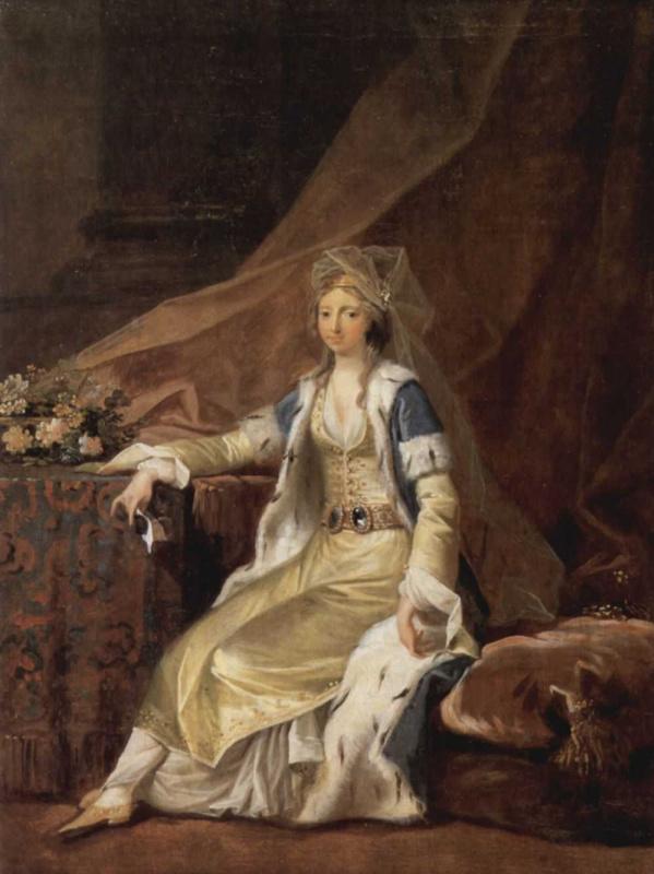 Йенс Юль. Портрет Луизы, герцогини Шлезвиг-Голштинии, в турецком одеянии