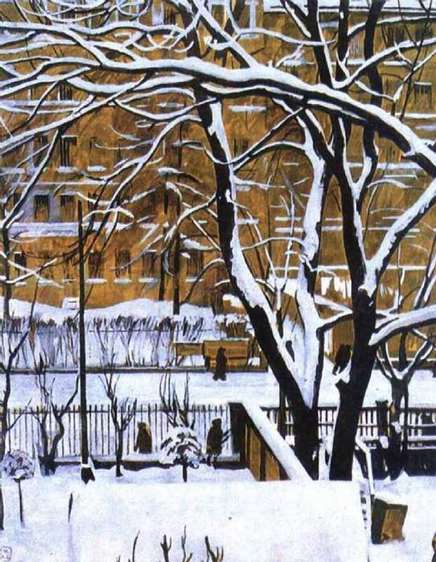 Георгий Семенович Верейский. Зимний пейзаж