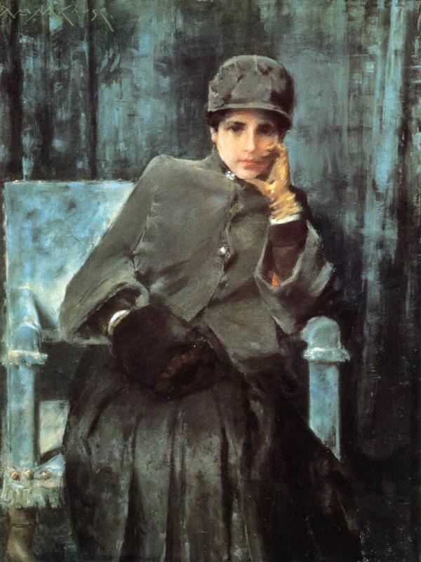Уильям Меррит Чейз. Размышления (портрет жены художника)