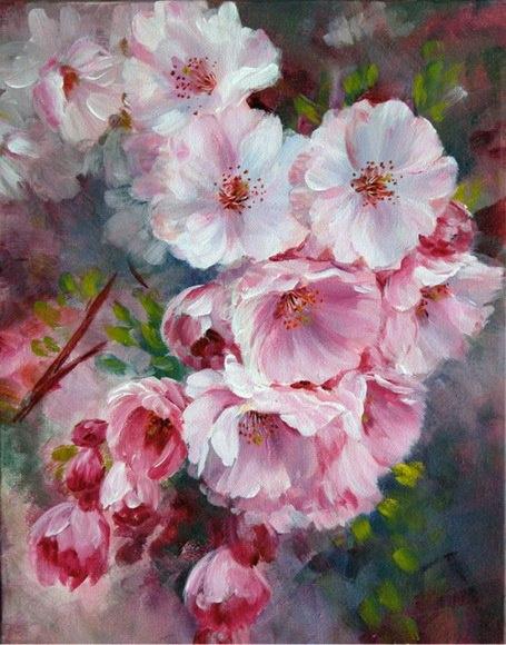Назанин Мамедова. Цветущая вишня