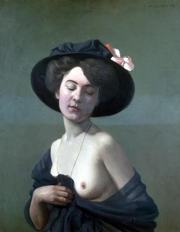 Felix Vallotton. Woman in black hat