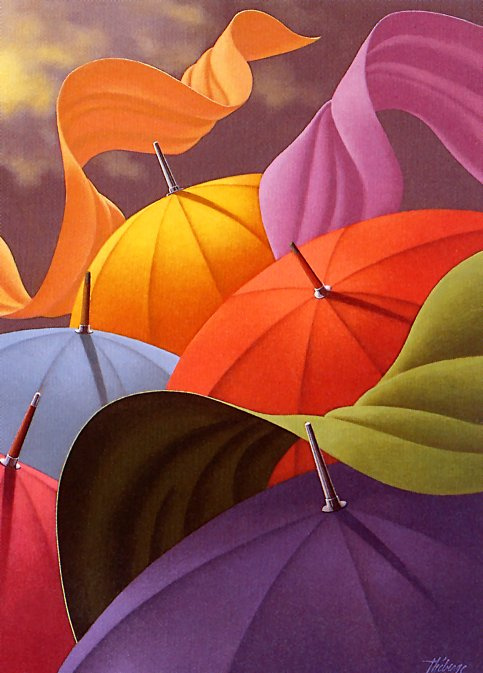 Клод Теберж. Зонты