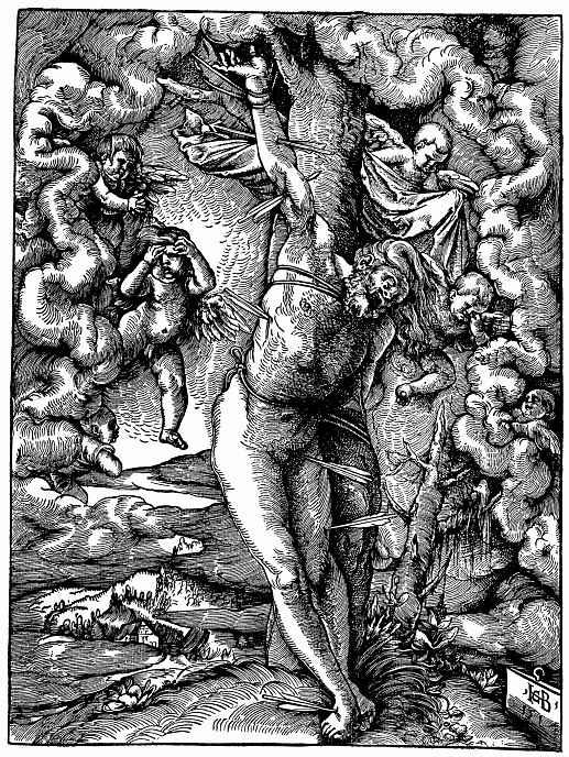 """Ханс Бальдунг. """"Большой святой Себастьян"""""""