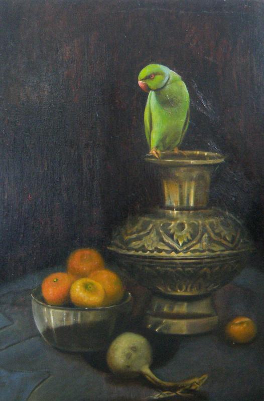 Polina Anatolyevna Kolddomasova. Still life with tangerines