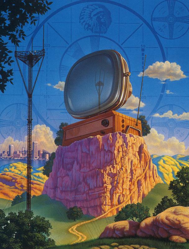 Рик Браун. Большой телевизор