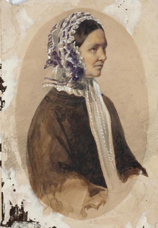 Maria Alekseevna Polenova (Voeikova). Portrait of the nanny Aksinya Ksenofontovna Bulakova