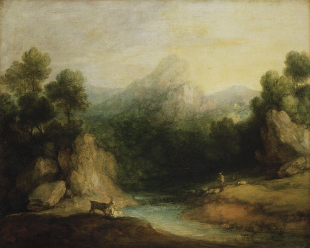 Томас Гейнсборо. Горная долина с пастухом, овцами и козами