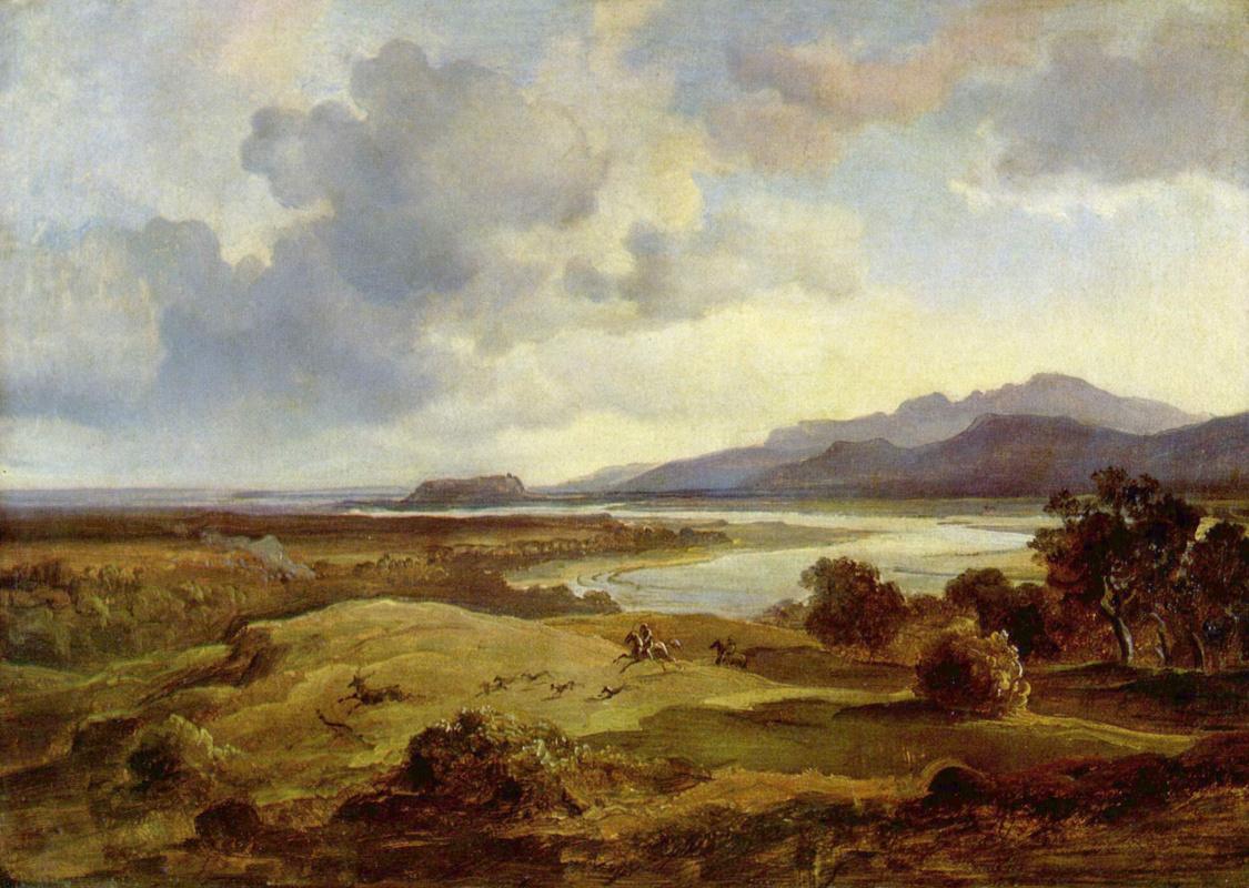 Карл Антон Йозеф Ротман. Долина Инна близ Нойбойерна