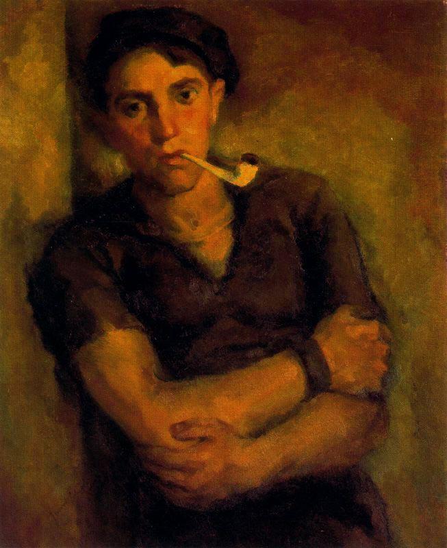 Хенаро Лахуерта. Мужчина с трубкой