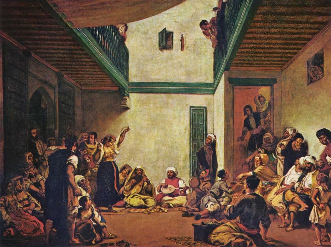 Eugene Delacroix. Jewish wedding in Morocco