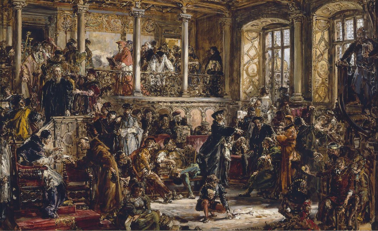 Ян Матейко. Золотой XVI век литературы в Польше. Реформация, преобладание католицизма
