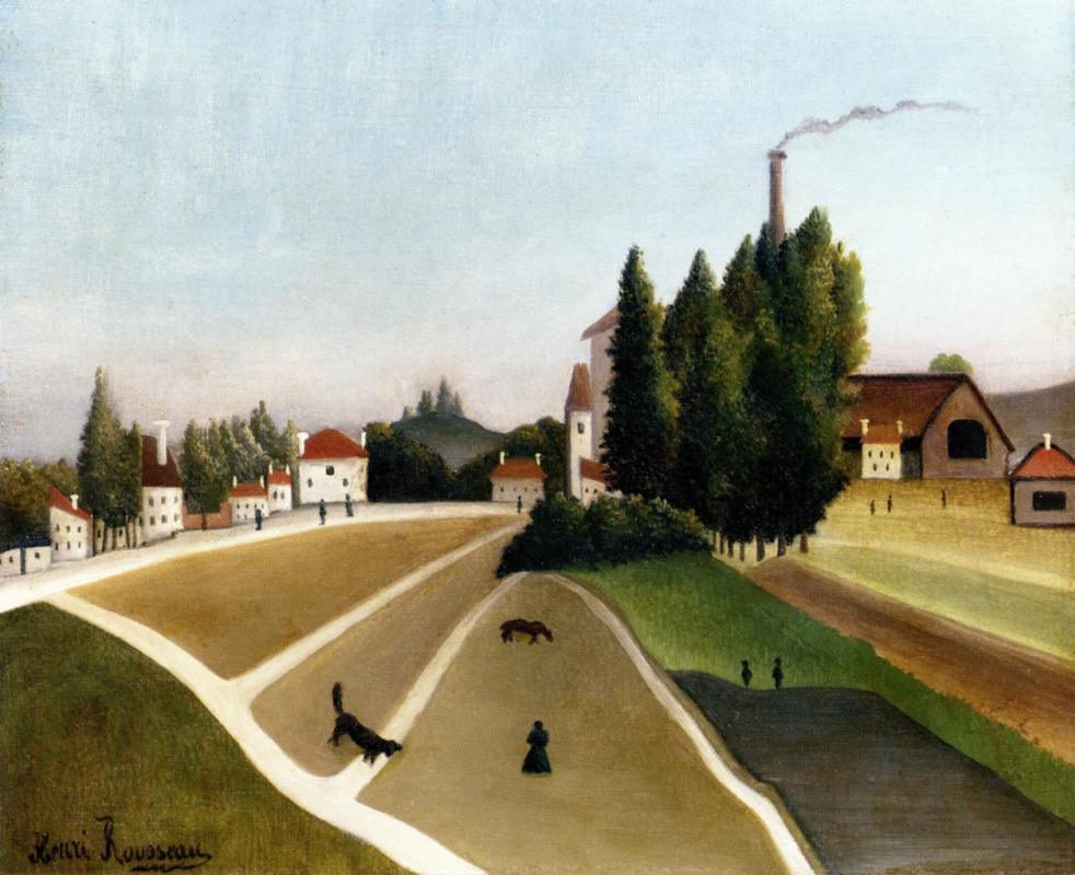 Анри Руссо. Пейзаж с фабрикой